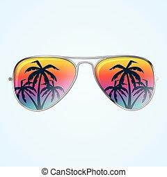 zonnebrillen, palmen