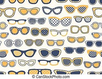 zonnebrillen, seamless, achtergrond