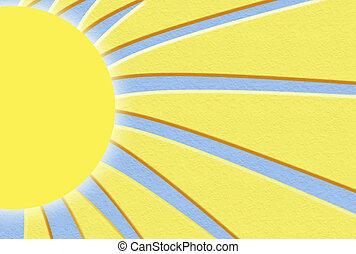 zonneschijn, illustratie