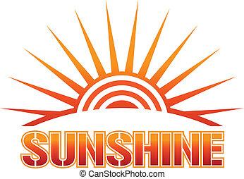 zonneschijn, pictogram