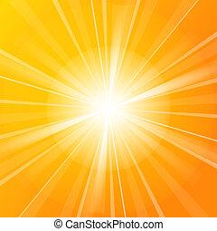 zonneschijn, vector, illustratie
