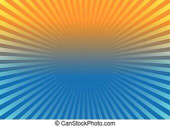 zonnestraal, effect, achtergrond