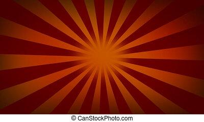 zonnestraal, rode achtergrond