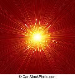 zonnestraal, rood
