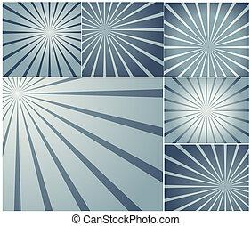 zonnestraal, vector, achtergronden