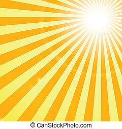 zonnestralen, backgroung, het glanzen