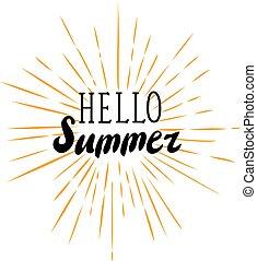 zonnestralen, hallo