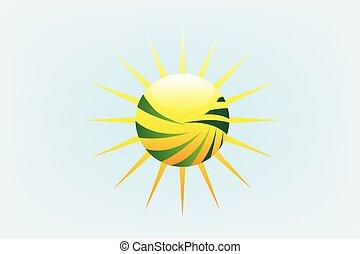 zonnestralen, landbouw, logo