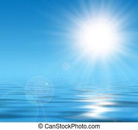 zonnig, achtergrond