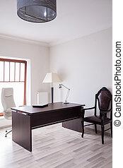 zonnig, en, praktisch, kantoor