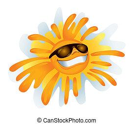 zonnig, :), vector