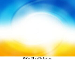 zonnig, zomer, achtergrond
