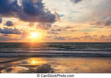 zonopkomst, zee