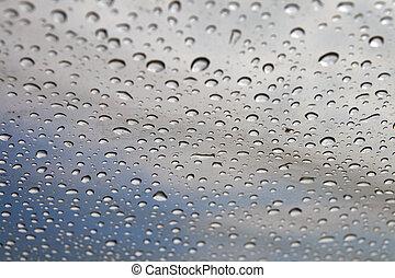 zonwering, polyethyleen, druppels, background:, regen