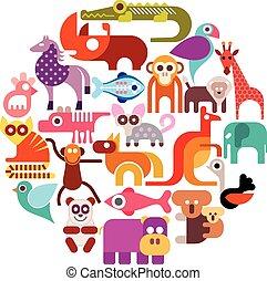 zoo, animales