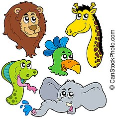 ZOO animals collection 6 - isolated illustration.
