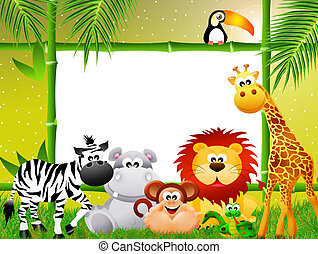 Zoo animals cartoon