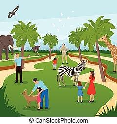 Zoo Cartoon Background
