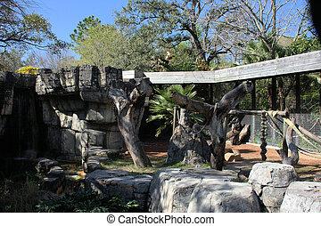 Zoo Enclosure - Zoo enclosure for wildlife, mostly primates...