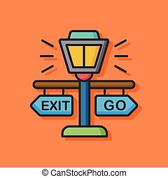 zoo exit sign icon