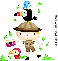 zookeeper boy - a zookeeper boy with his bord