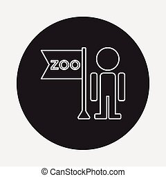 zookeeper line icon