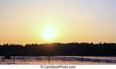 zoom., упущение, sunset., зима, время