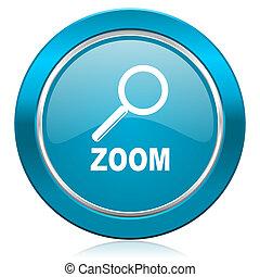 zoom blue icon