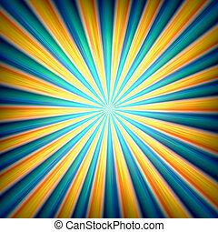 Zoom burst background - Radial zoom burst of energy,...