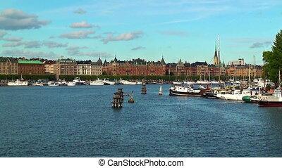 Zoom cityscape of Stockholm, Sweden