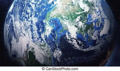 zoom, em, terra, de, espaço