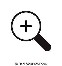 zoom glyph flat icon