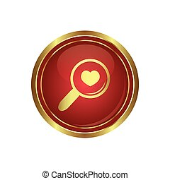 Zoom icon with heart