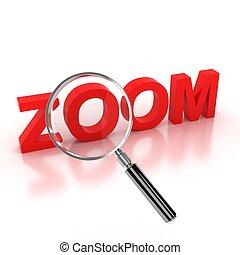 zoom, ikon, -