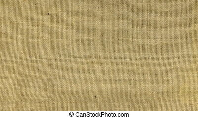 Zoom in burlap texture, top view