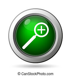 Zoom in icon. Internet button on white background