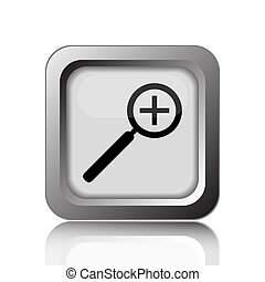 Zoom in icon. Internet button on white background.