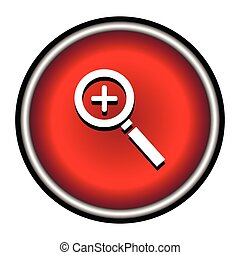 Zoom In , Magnifying Glass Icon
