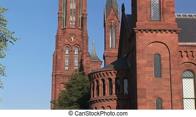 Smithsonian Institute Castle - Zoom in of spires on...