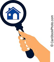 Zoom in or look for home vector icon. Search for home concept icon.