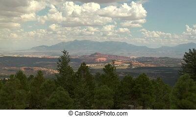 zoom in shot of natural Bridges national Monument Utah