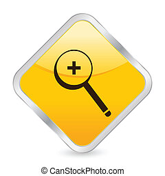 zoom in yellow square icon