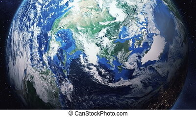 zoom into earth from space - Zoom in from space down to...