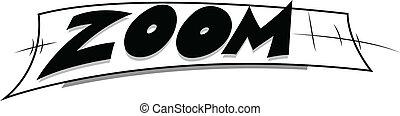 zoom, -, komisch, uitdrukking, vector