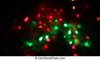 Zoom multicolored bokeh lights. Christmas and new year...