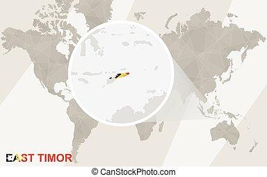 East Timor Map Map Of Democratic Republic Of Timorleste Clip - East timor seetimor leste map vector