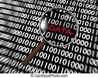 Zoom on Hidden Digital Data into lot of Binary Digits