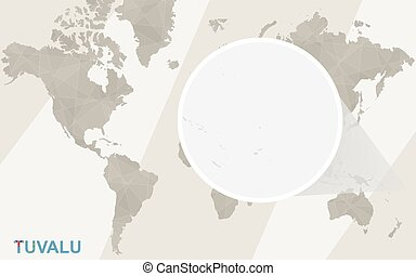 Clipart Vector Of Tuvalu Map And Flag Bright And Colorful Map Of - Tuvalu map