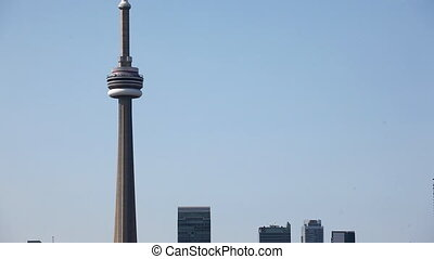 Zoom out from the Toronto Skyline