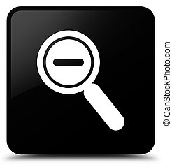 Zoom out icon black square button